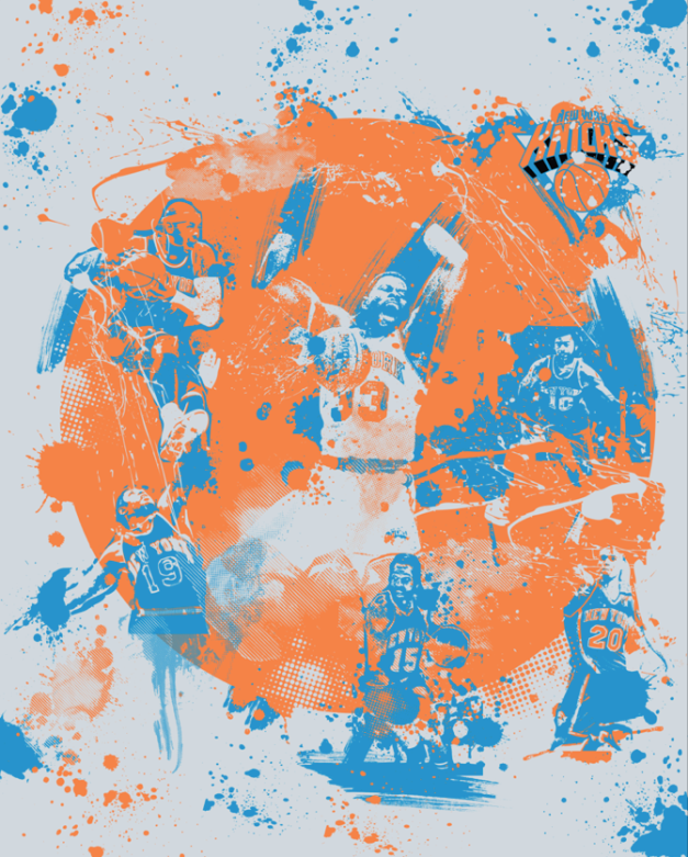 New York Knicks Splatter by Joe Baron